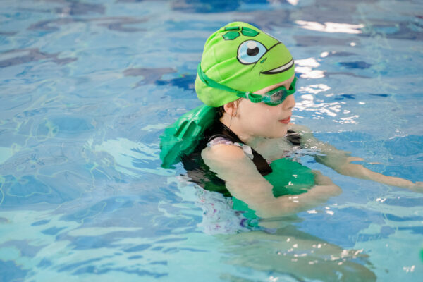 Tiki the Turtle Swimming Cap - Green, One Size Fits All